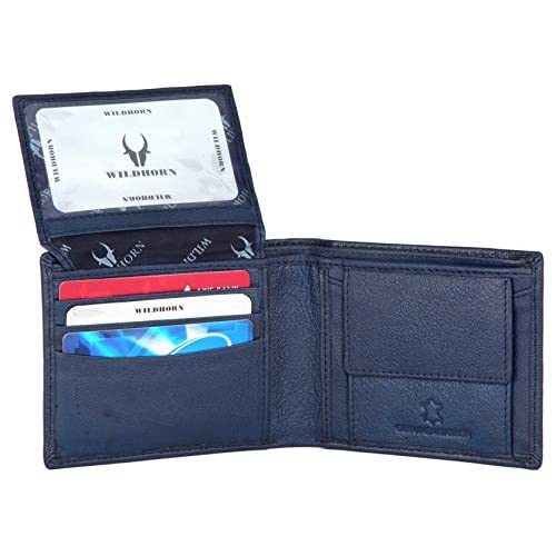 WildHorn® RFID Protected Genuine High Quality Leather Wallet,Keychain & Pen Combo for Men 3