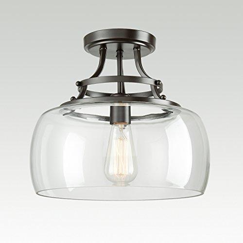 Large Glass Pendant Light Shade - 8