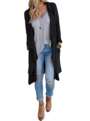 Tankoo Basic Knit Solid Long Sleeve Maxi - Cotton Long Cardigan Shopping Results