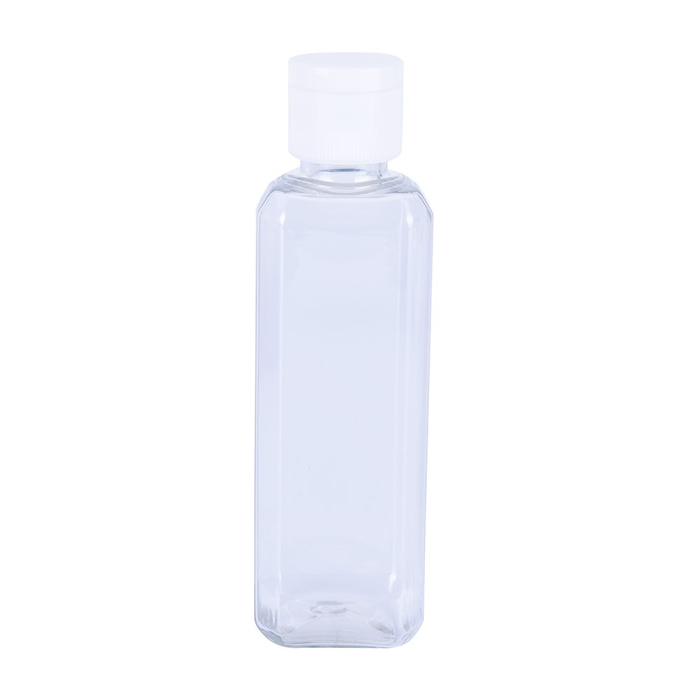 82357202ceaa Amazon.com : Ujuuu 4 Pcs 100ml Clear Plastic Flip Bottles Travel ...