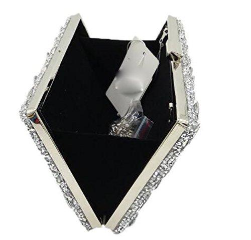 Nuevo Bolso De Las Señoras Señoras Diamante Bolso Color Rhinestones Perforación Caliente Bolso De Tarde Mini Bolsos Del Banquete Black