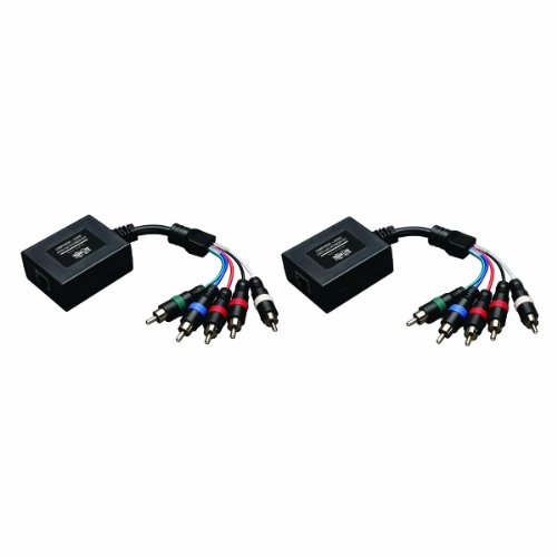 Tripp Lite Component Video with Stereo Audio over Cat5 / Cat6 Extender, Transmitter and Receiver (Cat5 Component Video)