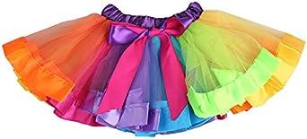 Falda para niña, minifalda tutú pettidress infantil con capas de ...