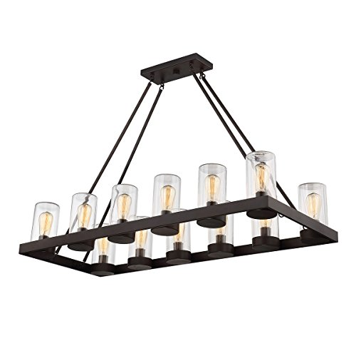 Outdoor Pendant 12 Light with English Bronze Finished E Bulbs 19 inch 720 Watts