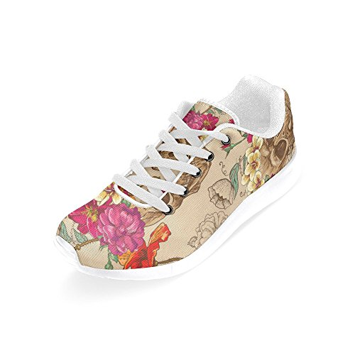 Casual Flats White Womens Shoes Running Soft Walking InterestPrint 3 H5qZZ