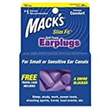 Mack's Slim Fit Soft Foam Earplugs, 10 Pair - Small Ear Plugs for Sleeping, Snoring, Traveling, Concerts, Shooting Sports and Power Tools - Pack of 4