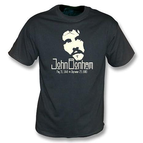 c68ec73eca0c Amazon.com  John Bonham Tribute vintage wash T-shirt