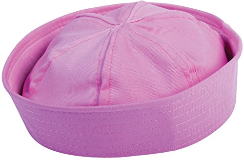 [Unisex Sailor Captains Navy Fishing Marine Pink Hat Costume Accessory] (Adult Sailor Captain Costumes)
