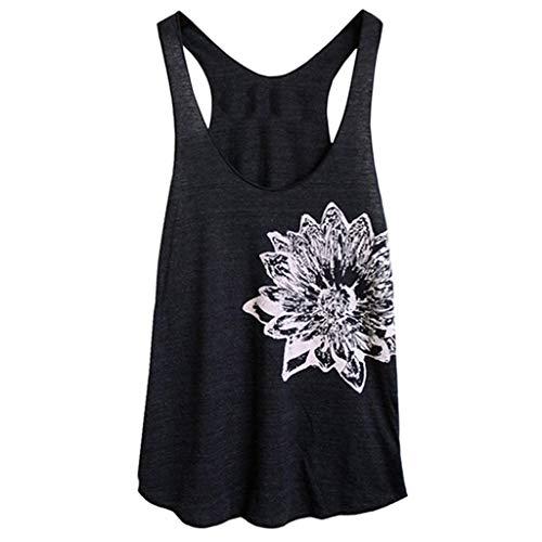 - HIRIRI Womens Tops Lace Bodysuit Weighted Vest Printed Crop Top Soft Scoop Neck Tee Shirts Black