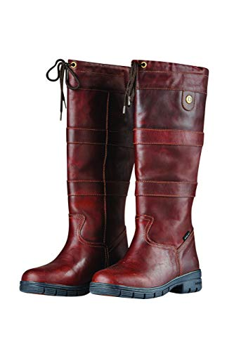 Dublin River Grain Boots RED Brown Ladies 10 (Dublin Leather Boots)