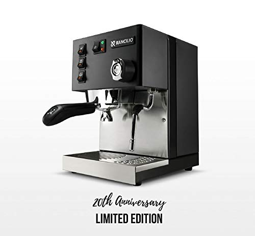 Rancilio Silvia Espresso Machine with Iron Frame and Stainless Steel Side Panels, 11.4 by 13.4-Inch (Black)