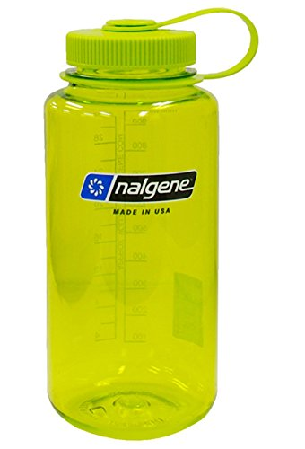Nalgene Tritan Wide Mouth BPA-Free Water Bottle, Spring Green, 1 ()