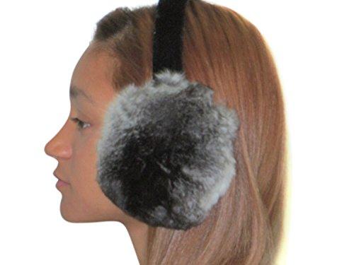 Natural Chinchilla Ear Muffs by FursNewYork (Image #4)