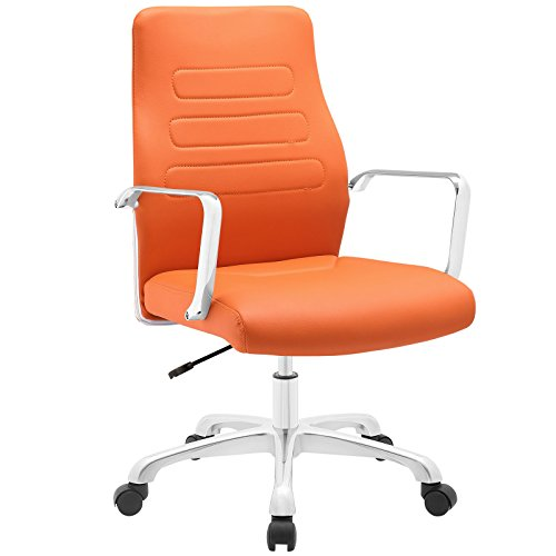 Modway Depict Mid Back Aluminum Office Chair, Orange