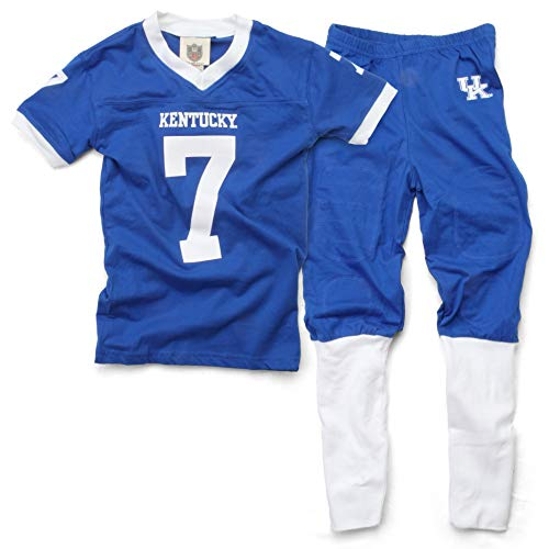 Pants Wes And Willy Boys (Wes and Willy University of Kentucky Boy's Football PJ Set (Youth 4))