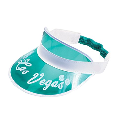 Loftus Las Vegas Card Dealer Classic Visor Costume Hat, Green White, One Size -