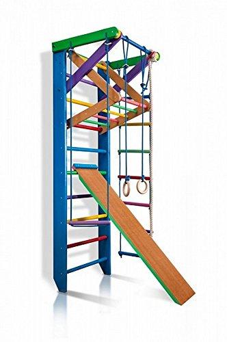 Funnyclouds Kinder Kletterwand Rainbow 3 240 Sprossenwand Turnwand