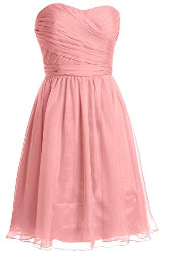 MACloth Women Halter Pleated Chiffon Long Prom Dress Wedding Party Formal Gown (EU44, Blush Pink)
