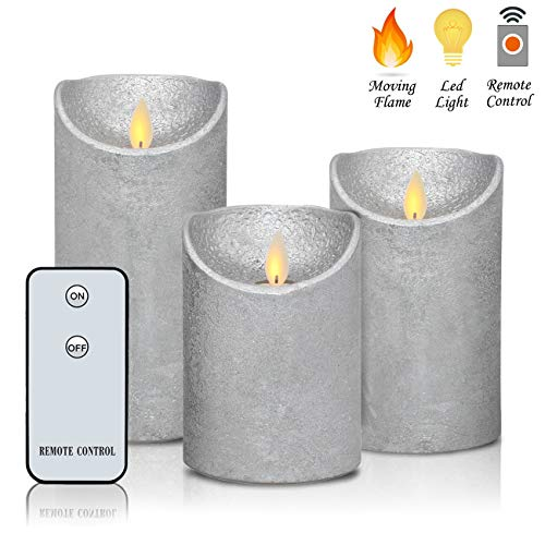 Classic Candle Pillar (Flameless Candles Flickering LED Moving Flames 3