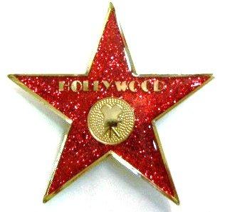 (Red Glitter Hollywood Walk of Fame Star Magnet)