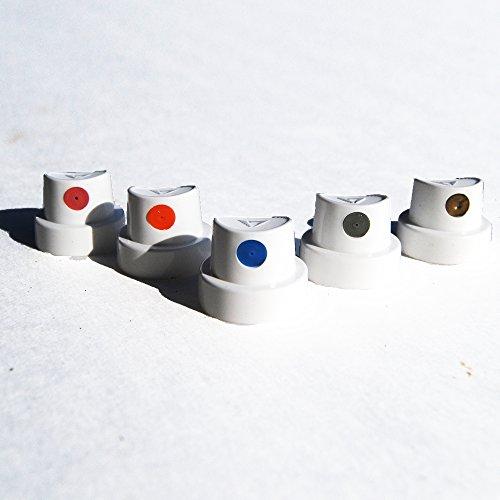 Dot Cap Professional Spray Paint Nozzle Set of 50 for Urban Graffiti Street Art