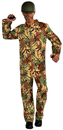 Forum Novelties Men's Combat Hero Army Jumpsuit Costume, Camouflage, One Size -