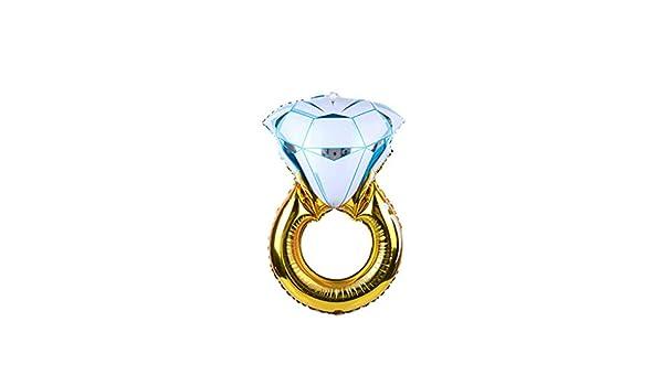 YiFeiCT - 1 globo, gigante diamante, anillo en forma de hoja ...