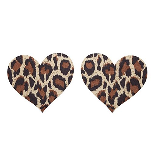 10 Pairs Sexy Leopard shape Nipple Pasties Breast Nipple Cover Stick on Bra Disposable