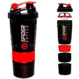 Worthy Shoppee Red Spider Protein Shaker Bottle for Gym - 500ml (Assorted-Available Color Will be Send)
