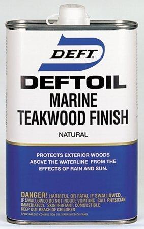 Deft 182 04 Deftoil 1 Quart Marine Teakwood Finish Natural