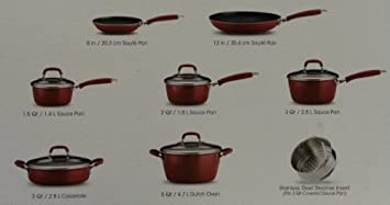 Tramontina 13 PC Porcelain Enamel Nonstick Cookware Set Red