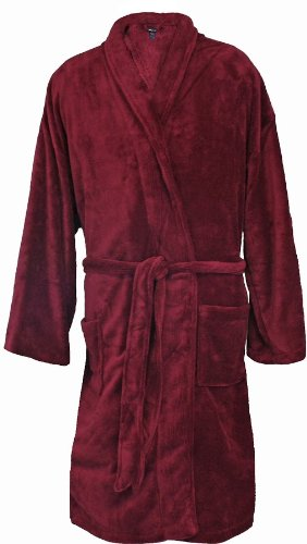 Foxfire Big and Tall Men's Plush Robe 3XL - 4XL Burgundy (Big And Tall Mens Robes)