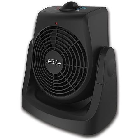 Sunbeam 2-In-1 Tilt & Heat Personal Heater Fan (Sunbeam Portable Heater)