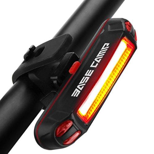 GVDV Fahrrad Rücklicht Intelligent LED wasserdichte Rücklicht, USB aufladbare Sport Fahrradbeleuchtung hinten Fahrrad-Licht, 6-Modus-Optionen