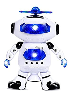 Accguan Mini Intelligent Dancing Electric Robot Rotating Smart Space Fun Toy Grip Hand With Lights & Music Kids Gifts