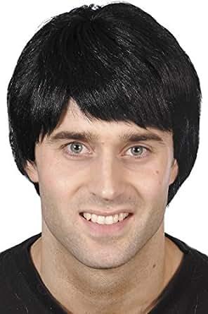 Smiffy's Men's Guy Wig Short, Black, One Size