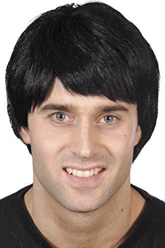 Smiffys Men's Short Black Guy Wig, One Size, 5020570421758 -