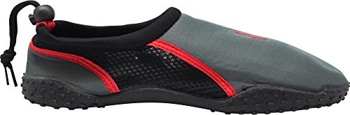 Red Wave Mens and Slip Charcoal Sports Runs NORTY Shoes Small Waterproof Size Ons Water Aqua Young For Pool Beach Sock 1 qRcxCc5IOw