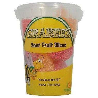 GRABEEZ Sour Fruit Slices (7 oz. cups, 12 ct.)