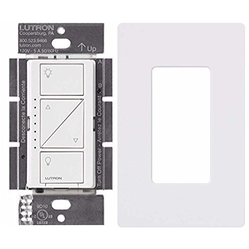 Lutron PD-10NXD-WH Caseta Pro In Wall Dimmer 250W LED With Screw Less Wall Plate (White)