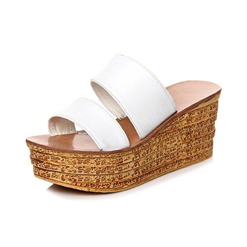 Scarpe Wedge Bianco Abbigliamento 4 Colore Scarpe LIXIONG Casual 5 sandali CN37 Pantofole Bianca Heel EU37 Club Bianca donna dimensioni Primavera moda Nero Comfort Rosso e UK4 Estate di fPzYwZPx
