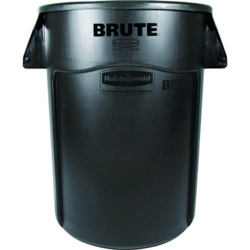 Rubbermaid Commercial Products 1867531 BRUTE Heavy-Duty Round Trash/Garbage Can, 32-Gallon, Black