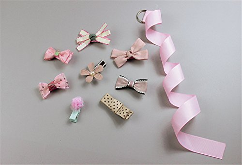 Seven Of Nine Costume Diy (VolksRose Set of 9 Newest Assorted Grosgrain Ribbon Hair Bows Clip Turban Headband Head Wrap Knotted for Girls Sweet Baby Toddlers Kids #7)