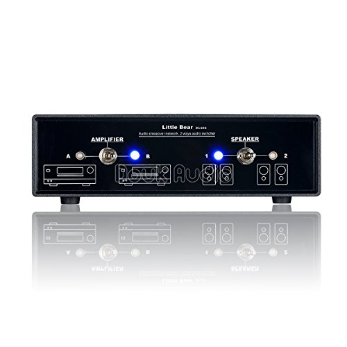 2 Way Passive Crossover Network - Nobsound Little Bear Audio Crossover Network Stereo 2-Way Amplifier / Speaker Switcher Passive Selector