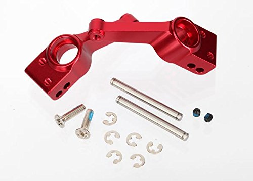 Traxxas 1952A Red-Anodized 6061-T6 Aluminum Rear Stub Axle Carriers (pair)