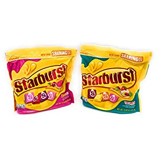 Starburst Candy FaveREDs and Tropical Bundle Sharing Size 15.6 Ounces Each (2 items)