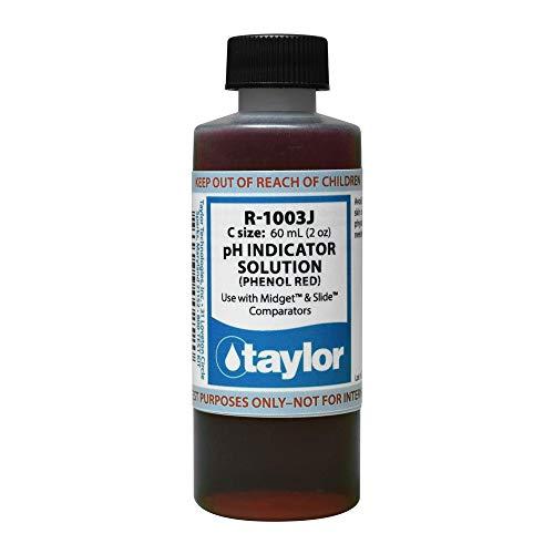Taylor R-1003J-C Taylor Phenol - Red, 2 oz.