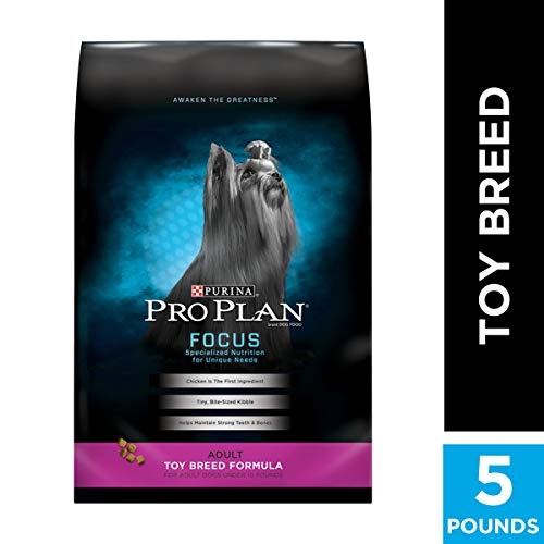 Purina Pro Plan High Protein Toy Breed Dry Dog Food, FOCUS Toy Breed Formula - 5 lb. Bag (Best Food For Teacup Yorkie)