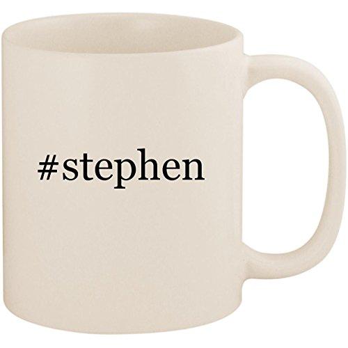 #stephen - 11oz Ceramic Coffee Mug Cup, White