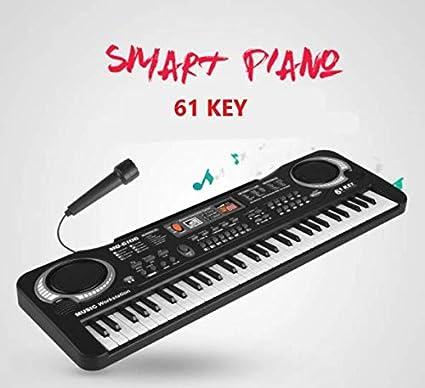 Piano Infantil, XYEU 61 Teclas Piano Teclado Infantil Juguete con Micrófono,Música Regalo Educativo